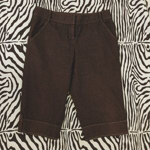 Ann Taylor LOFT Brown Denim Capri - Size 6